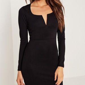Black misguided dress